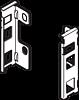 LEGRABOX Uchwyty ścianki tylnej ZB7M 90mm INOX - Blum