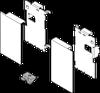 LEGRABOX Mocowania Frontu Wewnętrznego ZV7.1043C  Wys.M Antracyt - Blum