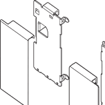 mocowanie frontu ZI7.0MS0 Typ uchwytu frontu: do szuflady wewnętrznej System szuflad: LEGRABOX Warianty mocowania frontu: wys. M Materiał: stal Kolor /...