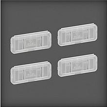 Oprawka na etykiety Elfa Utility         transparentna Wykonana z tworzywa sztucznego-plastiku o...
