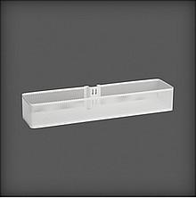Elfa Kosz średni Meshw kolorze Białym do zamocowania na szynie pionowej H lub V na dowolnej wysokości. o wym. szer. 435 mm, gł. 104 mm, wys. 70...