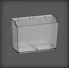 Pudełko wąskie do organizatora w systemie Elfa Utility         transparentne Wykonane z...