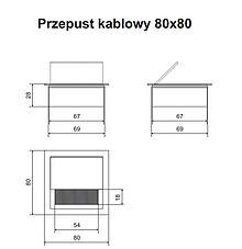 Przepust Kablowy Kwadratowy z Aluminium 80x80 mm Czarny - Amix