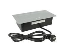 Przedłużacz biurkowy-3x gniazdo z uziemieniem aluminium - Amix
