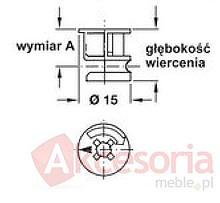 Złączka Minifix 15 Bez Kołnierza Do Grubości Płyty 18mm - Häfele