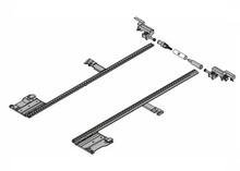 Zestaw stabilizacji bocznej ZS7M400MU do prowadnic Movento o długości nominalnej do 40cm  Zapewnia stabilność otwierania i zamykania szerokich szuflad....