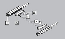 Reling Synchronizacji T60 Do TIP-ON BLUMOTION - Blum