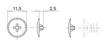 Zaślepka do mimośrodów fi15mm(Orzech)