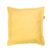 Ciekawa poduszka o prostym kształcie. Wykonana z bawełnianego materiału, w kolorze żółtym. Zdejmowalna poszewka z zamkiem. Produkt ręcznie wykonany w...