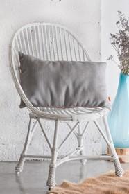 Oryginalne krzesło, wykonane z wikliny, barwionej na odcień bieli. Krzesło wykonane jest ręcznie, przez polskich rzemieślników. głębokość: 55 cm...