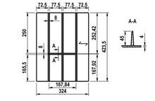 Drewniany wkład na sztućce do szafki o szerokości korpusu 400 mm - Würth
