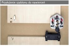 Szablon do nawierceń DrillJig Złącza mimośrodowe,  fi 20mm - Hettich