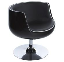 Fotel HARLOW został wykonany z ABS, osadzonego na podstawie ze stali chromowanej w kształcie tulipana, obracającej się o 360°. Świetnej jakość...