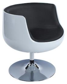 Fotel HARLOW biało-czarny