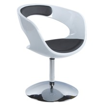 Fotel KIRK biało-czarny