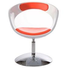 Fotel KIRK biało-czerwony