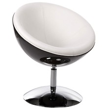 Fotel SPHERE czarno-biały