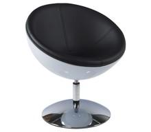 Fotel SPHERE biało-czarny