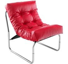 Fotel do salony BOUDOIR oferuje niezrównany komfort. Siedzisko tapicerowane sztuczną skórą, przymocowane do smukłej oraz lekkiej konstrukcji ze stali...