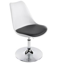 Fotel VICTORIA biało-czarny