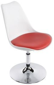 Fotel VICTORIA biało-czerwony