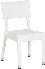 Ukłon w kierunku stylu retro. Krzesło OZYE, które można składować w stos, zostało wykonane z syntetycznej, plecionej wikliny. Giętkie oraz komfortowe...