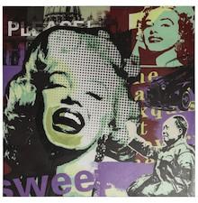 Pokłon w stronę złotych lat 60-tych. Obraz POP został wykonany na drewnianej ramie, przy czym ręcznie wykończona faktura nadaje mu unikatowego stylu. ...