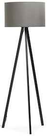 Lampa stojąca TRIVET szaro-czarna