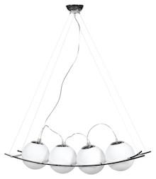 Nowoczesność i elegancja, lampa wisząca URANUS jest zawieszona na 4 cienkich, stalowych kablach oraz przezroczystych, elektrycznych przewodach. Wysokość...