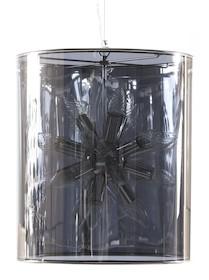 Jasna i nowoczesna lampa wisząca ALPHA może pomieścić do 18 żarówek. Szary odcień klosza z ciemnym wykończeniem, rzuca ciepłe barwy. Lampa ta wisi na...