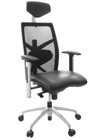 Ergonomia w każdym stopniu z fotelem biurowym OSAKA! Jego wszechstronne możliwości regulacyjne(podłokietniki, część lędźwiowa, zagłówek, wysokość...