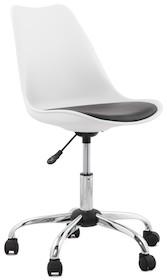 Fotel EDEA biało-czarny