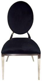 Krzesło medalion B8029- czarny