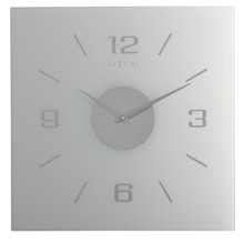 Zegar ścienny NeXtime Willie to elegancki wykonany z szronionego szkła zegar o wymiarach 35x35 cm. Dzięki swemu nowoczesnemu wzornictwu doskonale sprawdzi...