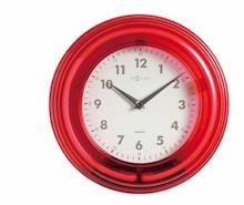 Zegar ścienny Neon z kolekcji NeXtime wykonany z tworzywa sztucznego, posiada mechanizm skokowy zasilany baterią AA oraz posiada podświetlenie zasilane...