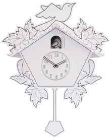 Zegar ścienny Cuck-a-do-it-yourself będzie doskonałym rozwiązaniem do pokoju twórczego dziecka. Będzie ono mogło pomalować kartonową tarczę zegarka...