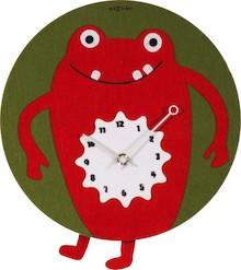 """Zegar 3088 """"Redrique"""", którego projektantem jest Think Fish, posiada mechanizm z wahadłem zasilany za pomocą baterii typu AA. Zegar wykonany z..."""