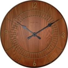 """Zegar 3113 BR """"Wood Round"""" zaprojektowany przez NeXtime, wyposażony jest w mechanizm skokowy zasilany za pomocą baterii typu AA. Zegar wykonany z..."""