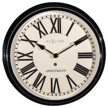 Amsterdam to niezwykle efektowny zegar ścienny, obok którego trudno przejść obojętnie. Na pewno stanie się bardzo ważnym elementem dekoracyjnym...