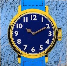 """Zegar 8157 """"Watch One"""", którego projektantem jest 20four, posiada mechanizm skokowy zasilany za pomocą baterii typu AA. Zegar wykonany z szkła w..."""