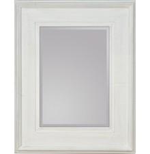 Okazałe lustro w prostej, szerokiej ramie. Rama lustra wykonana jest z drewna i pokryta białym lakierem (przecieranym). Tafla lustra jest kryształowa,...