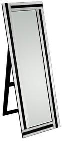 Wyjątkowe i nowoczesne lustro stojące. Rama wykonana jest z lusterek, ich tafle są kryształowe. Lustro posiada fazę. Po zdemontowaniu nóżek można je...