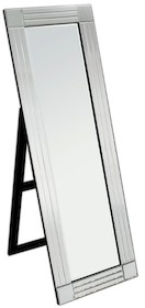 Wyjątkowe i nowoczesne lustro podłogowe. Rama wykonana jest z lusterek, ich tafle są kryształowe. Lustro posiada fazę. Po zdemontowaniu nóżek można je...