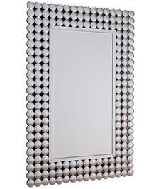 Wyjątkowe lustro w designerskiej ramie. Tafle lusterek są kryształowe. Lustro posiada fazę. Można je wieszać w pionie oraz w poziomie.  Wymiar lustra...