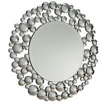 Wymiar lustra (cm) 100x100 Szerokość ramy (cm) 19  Rama lustra wykonana jest z lusterek. Lustro posiada fazę.