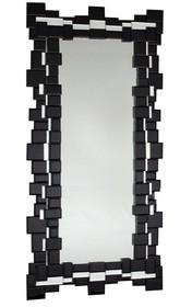 Rama lustra wykonana jest z lusterek (czarne szkło). Lusterka posiadają fazę. Lustro można wieszać w pionie oraz w poziomie.  Wymiar lustra (cm) 60x140