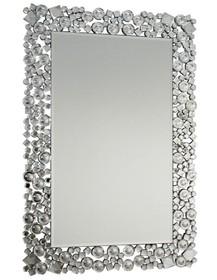 Rama lustra wykonana jest z pięknych, szlifowanych kryształków. Niepowtarzalny design sprawia, że lustro idealnie sprawdzi się we wnętrzach tradycyjnych...