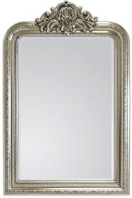 Rama lustra wykonana jest z drewna. Pokryta jest srebrnym szlagmetalem. Szlagmetal to cieniutkie listki metalu ręcznie nakładane i przecierane kamieniem...