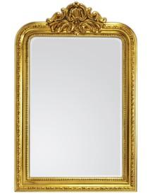 Rama lustra wykonana jest z drewna. Pokryta jest złotym szlagmetalem. Szlagmetal to cieniutkie listki metalu ręcznie nakładane i przecierane kamieniem...
