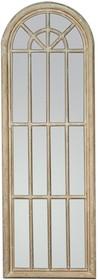 Niespotykane i oryginalne lustro w formie okna. Rama lustra wykonana jest z drewna i pokryta kremowym/beżowym lakierem (przecieranym). Tafla lustra jest...